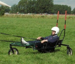 The Swanton buggy on the ground.
