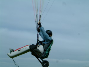 The Sanderson buggy being flown