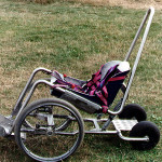 Swiss paragliding wheelchair side view