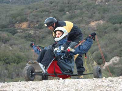 Russel preparing to launch his buggy